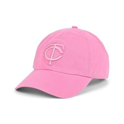 47ブランド レディース 帽子 アクセサリー Minnesota Twins Dark Gray Pink CLEAN UP Cap