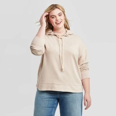 ユニバーサルスレッド Universal Thread レディース パーカー 大きいサイズ トップス Plus Size Hoodie Sweatshirt - Blush