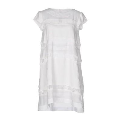 エルマノ シェルヴィーノ ERMANNO SCERVINO ミニワンピース&ドレス ホワイト 40 ラミー 100% / コットン ミニワンピース&