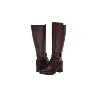 Naturalizer ナチュラライザー レディース 女性用 シューズ 靴 ブーツ ロングブーツ Daelynn Wide Calf - Chocolate Leather