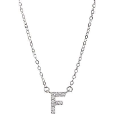 ノードストローム NORDSTROM レディース ネックレス ジュエリー・アクセサリー Delicate Cubic Zirconia Initial Pendant Necklace F Clear Silver