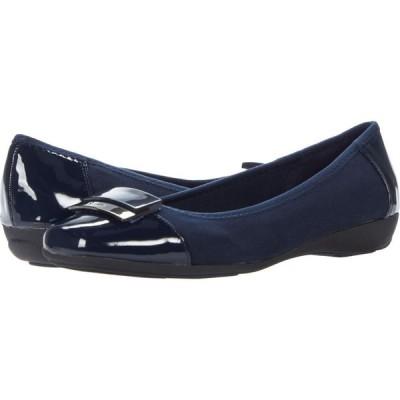 アン クライン Anne Klein レディース スリッポン・フラット シューズ・靴 Una Navy