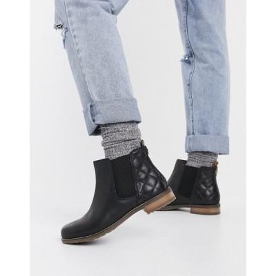 バブアー Barbour レディース ブーツ シューズ・靴 low boot in black ブラック