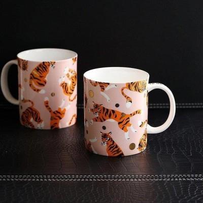 コーヒーカップ コップ 単品 結婚祝い 引越し祝い プレゼント ギフト トラ アニマル ポップ ピンク ホームパーティー 上品 上質 モダン シック