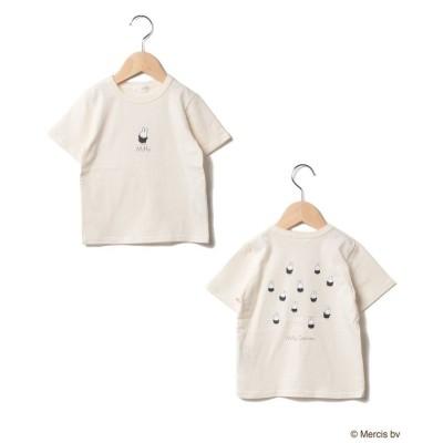 【ビールーム】  ミニダンスプリントTシャツ キッズ アイボリー 90 b-ROOM