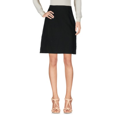 コスチューム ナショナル COSTUME NATIONAL ひざ丈スカート ブラック 38 57% コットン 43% 麻 ナイロン ひざ丈スカート