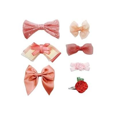 MESEEY子供髪飾り ヘアアクセサリー フラワーガールに変身 (ピンク Free Size)