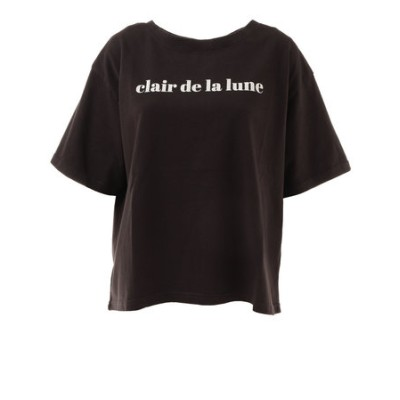 Tシャツ レディース 半袖 幅広プリントTシャツ XE12800158-BLK