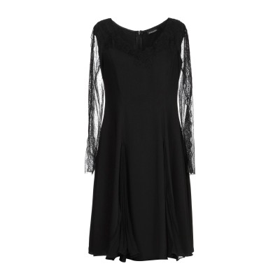 ERMANNO DI ERMANNO SCERVINO ミニワンピース&ドレス ブラック 38 ポリエステル 100% ミニワンピース&ドレス