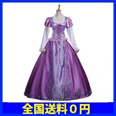 【 最高級 】monoii ラプンツェル ドレス 衣装 コスプレ プリンセス コスチューム 大人 レディース ハロウィン・・・