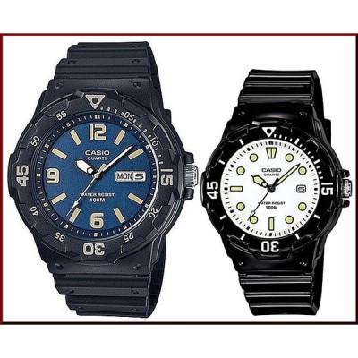 CASIO Standard カシオ スタンダード アナログクォーツ ペアウォッチ 腕時計 ラバーベルト ブラック 海外モデル MRW-200H-2B3/LRW-200H-7E1