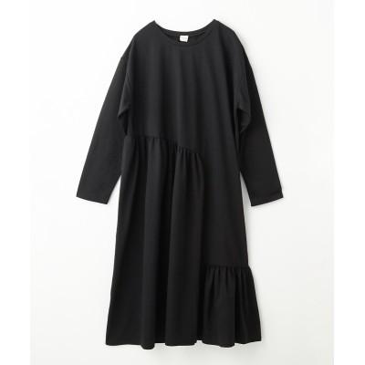 イレギュラー切り替えギャザーワンピース (ワンピース)Dress