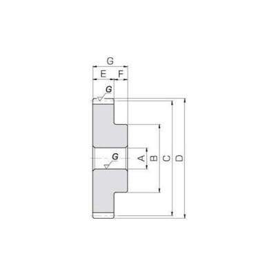 SSG 歯研平歯車 モジュール1.5 小原歯車工業(KHK) SSG1.5-56