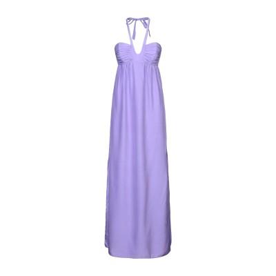 ALICE & TRIXIE 7分丈ワンピース・ドレス ライラック S シルク 100% 7分丈ワンピース・ドレス