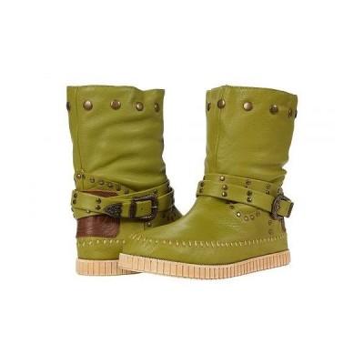 Dingo ディンゴ レディース 女性用 シューズ 靴 ブーツ スタイルブーツ アンクル ショートブーツ Malibu - Lime
