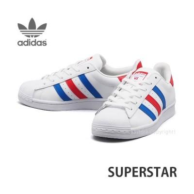 アディダス スーパースター adidas Originals SUPERSTAR スニーカー シューズ レディース 靴 カラー:フットウェアホワイ/ブルー/レッド