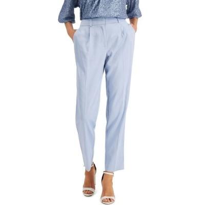 アルファニ カジュアルパンツ ボトムス レディース Pleated Slim-Fit Pants, Created for Macy's Faded Blue