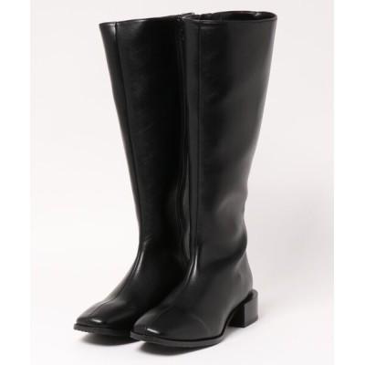 PICCIN / センターシームスクエアロングブーツ WOMEN シューズ > ブーツ