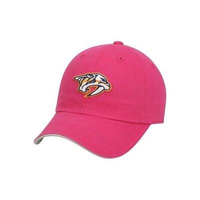 ホッケー NHL アウタースタッフ Nashville Predators Girls Youth Pink Slouch Adjustable Hat