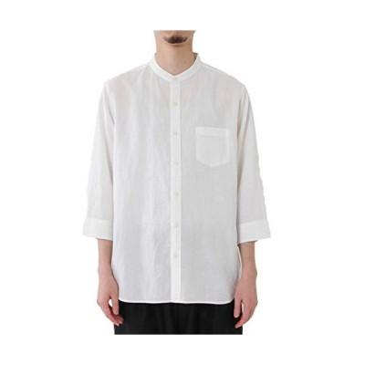 (コーエン) COEN ヨクバリネン・バンドカラー7分袖シャツ WHITE(01) SMALL
