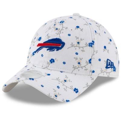 レディース スポーツリーグ フットボール Buffalo Bills New Era Women's Blossom 9TWENTY Adjustable Hat - White - OSFA 帽子