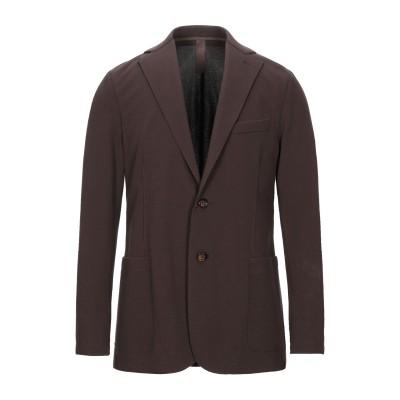 イレブンティ ELEVENTY テーラードジャケット ブラウン 52 コットン 83% / ナイロン 14% / ポリウレタン 3% / ポリエステ