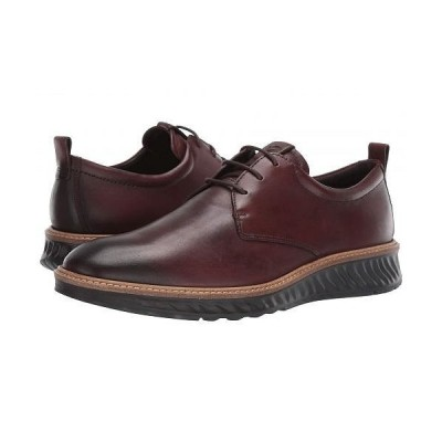 ECCO エコー メンズ 男性用 シューズ 靴 オックスフォード 紳士靴 通勤靴 ST1 Hybrid Plain Toe Tie - Cognac