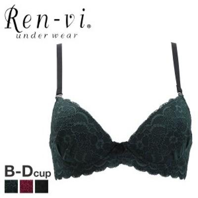 21%OFF (レンヴィ)REN-VI フラワーレース 3/4カップ ブラジャー BCD 日本製 単品