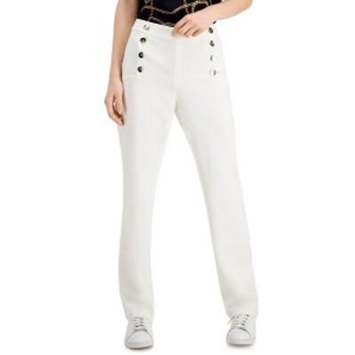 バースリー レディース カジュアルパンツ ボトムス Straight-Leg Sailor Pants, Created for Macy's Lily White