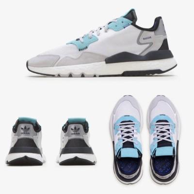 Adidas/アディダス adidas メンズ スニーカー ホワイト ミント NITE JOGGER ナイトジョガー EE5882