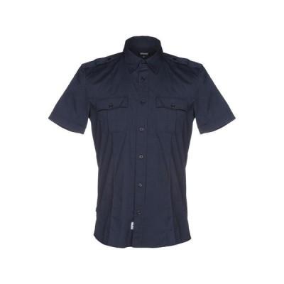 BLAUER 無地シャツ  メンズファッション  トップス  シャツ、カジュアルシャツ  長袖 ダークブルー