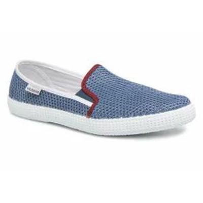 Victoria メンズスニーカー Victoria Trainers Slip On Rejilla/Tricolor Blue Jeans