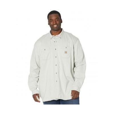Carhartt カーハート メンズ 男性用 ファッション ボタンシャツ Big & Tall Flame-Resistant Force Cotton Hybrid Shirt - Light Gray