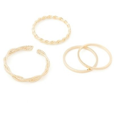 指輪 デザインリング4本SET