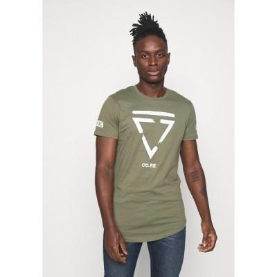 ジャック アンド ジョーンズ Tシャツ メンズ トップス JCONEWHOLM TEE CREW NECK - Print T-shirt - dusty olive