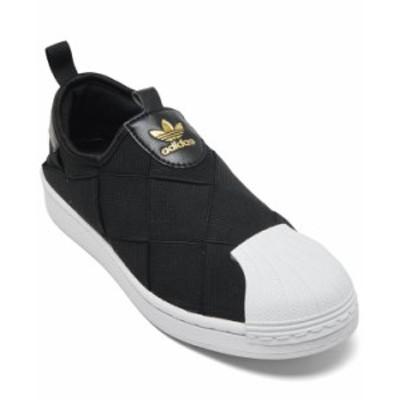 アディダス レディース スニーカー シューズ Women's Superstar Slip On Casual Sneakers from Finish Line Core Black Footwear White