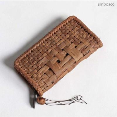 山葡萄長財布 手編みお財布 山ぶどう財布 ウォレット 大容量 男女兼用 送料無料