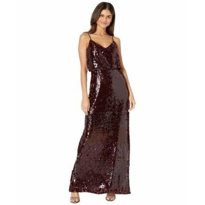 ワイフ ワンピース トップス レディース The Savannah Blouson Cami Gown Burgundy