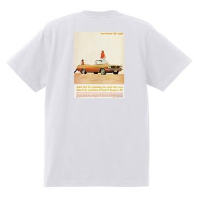 アドバタイジング ポンティアック 412 白 Tシャツ 黒地へ変更可能 1963 グランプリ テンペスト ボンネビル カタリナ アメ車