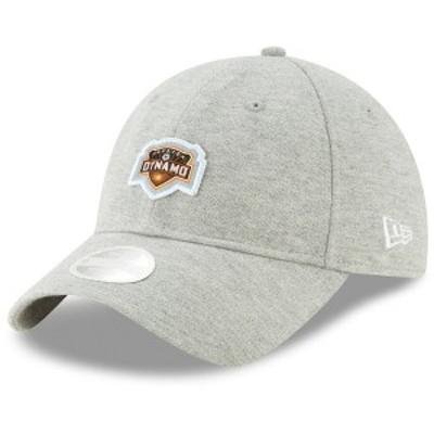 ニューエラ レディース 帽子 アクセサリー Houston Dynamo New Era Women's Preppy Team 9TWENTY Adjustable Hat Gray