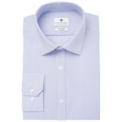 ライアン シークレスト Ryan Seacrest Distinction メンズ シャツ トップス Ultimate Slim-Fit Non-Iron Performance Stretch Dress Shirt Blue Pinstripe
