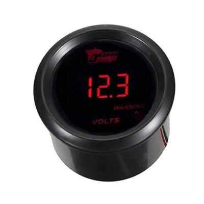 """Etopars 2"""" 52mm Black Car Auto Digital Red LED Light Volt Voltage LED"""