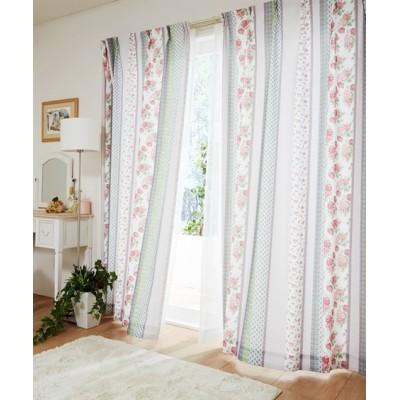 パッチワーク調フェミニンカーテン ドレープカーテン(遮光あり・なし) Curtains, blackout curtains, thermal curtains, Drape(ニッセン、nissen)
