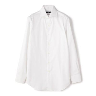 【シップス】 SD:  ALBINI ツイル ソリッド ワイドカラーシャツ メンズ ホワイト 39 SHIPS