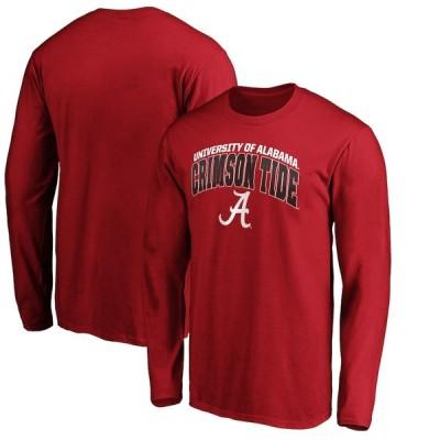 """メンズ Tシャツ 長袖 ロンT """"Alabama Crimson Tide"""" Fanatics Branded Steady Long Sleeve T-Shirt - Crimson"""