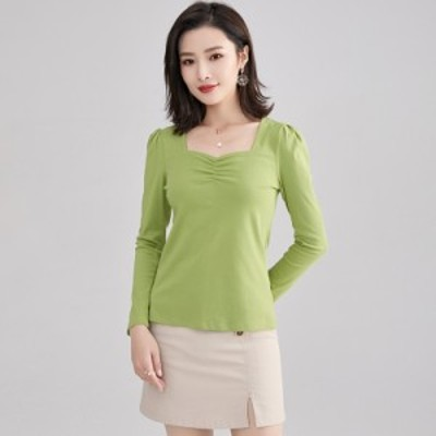 Tシャツ レディース 長袖Tシャツ 無地 長袖 ゆったり 女性 トップス 夏 薄手 カジュアル シンプル