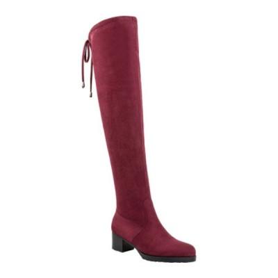 アンクリーク ブーツ&レインブーツ シューズ レディース Juarez Ultra Over The Knee Boot (Women's) Burgundy Faux Suede