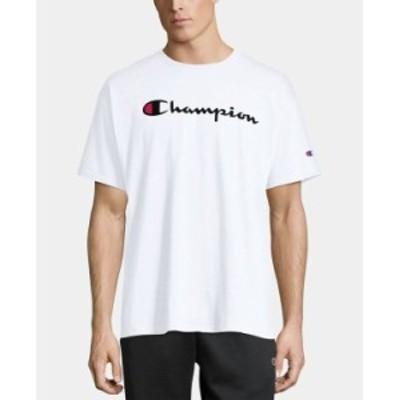 チャンピオン メンズ Tシャツ トップス Men's Script Logo T-Shirt White
