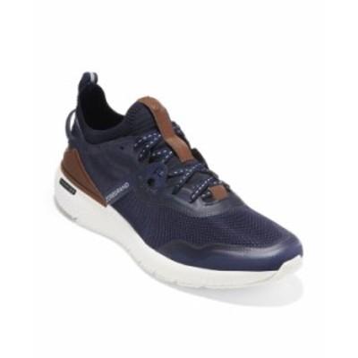 コールハーン メンズ スニーカー シューズ Men's ZeroGrand Overtake Runner Sneaker Marine Blue/Navy Ink/British