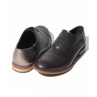 【クラウン製靴】 レースアップシューズ メンズ ダーク グレー 25.5 CROWN SHOE CO.、LTD.